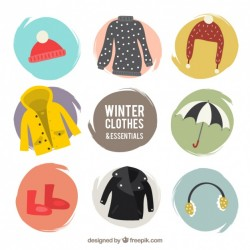 Winter comfortable clothing pack with accessories