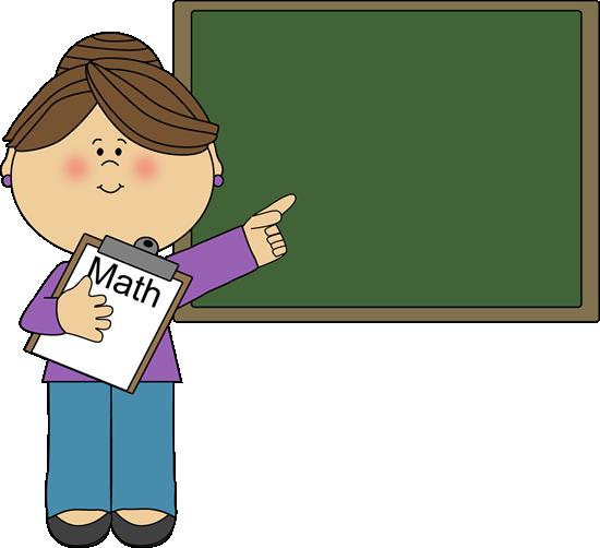 Woman Math Teacher Clipart