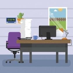 Workplace background design