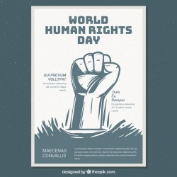 World human right day poster template