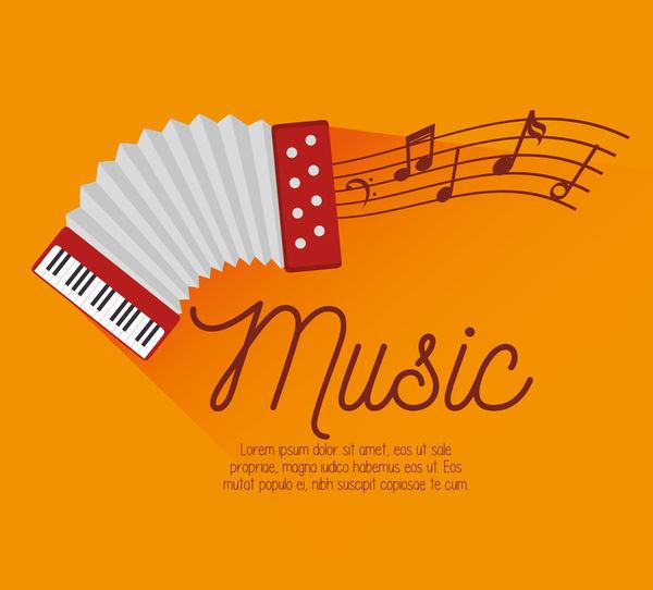 Yellow music background vector