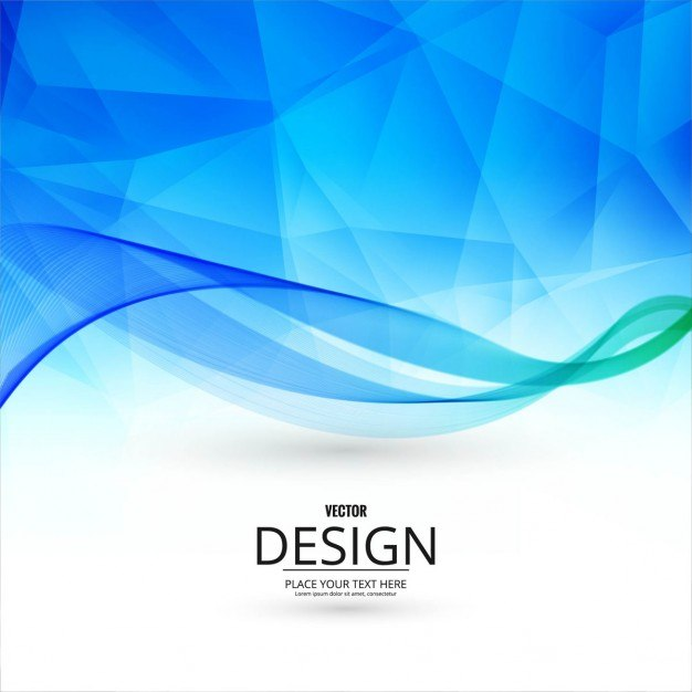 Blue polygonal background with wavy shapes