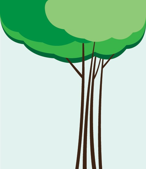 Cloud Tree Vector