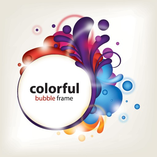 Colorful Bubble Frame Vector