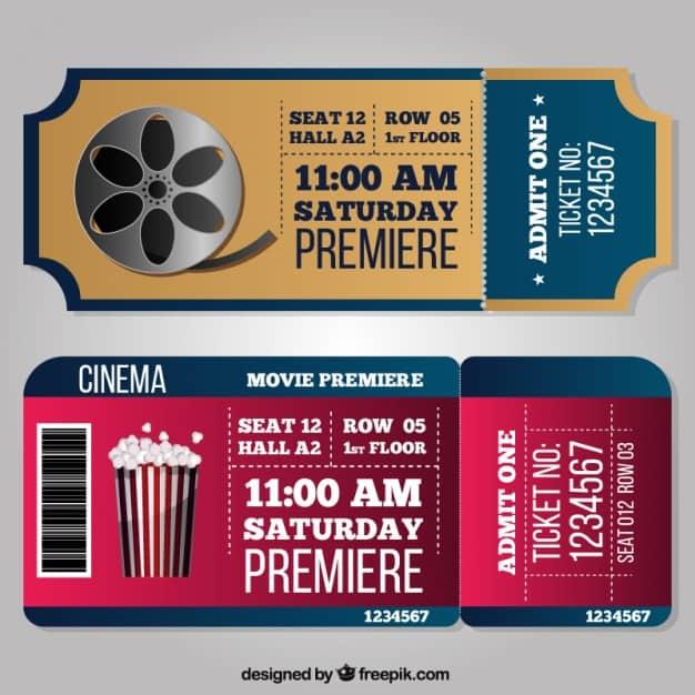 Fantastic cinema tickets in realistic style Vector