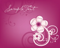 Flowery Design Vector