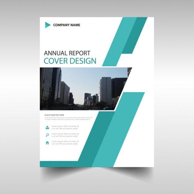 Geometric leaflet, turquoise