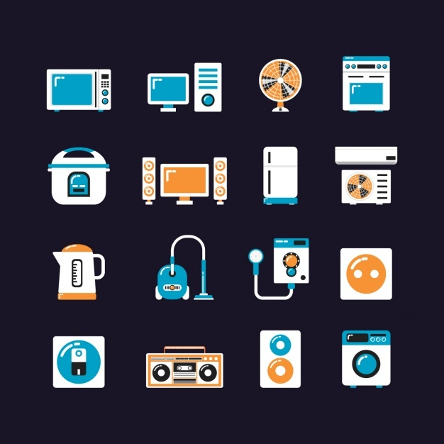 Home device icons collection