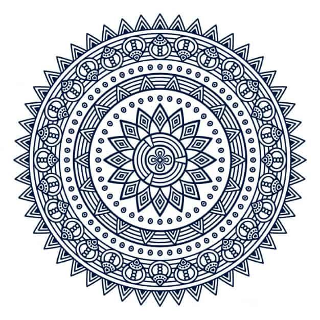 Mandala con flores