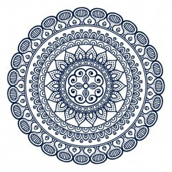 Mandala with abstract ornaments