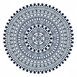 Mandala with circular shapes