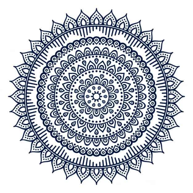 Mandala with floral ornaments