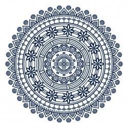 Mandala with floral shape