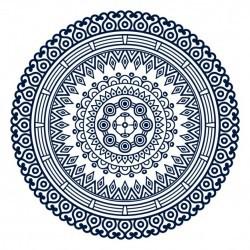Mandala with geometric shapes