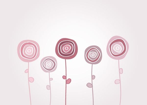 Playful Flowers Vector