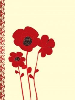 Poppy Card Vector