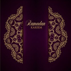 Ramadan kareem purple backgrounds vector set 30