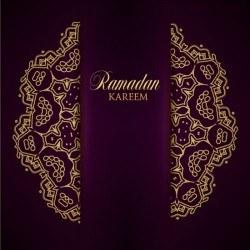 Ramadan kareem purple backgrounds vector set 30
