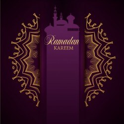 Ramadan kareem purple backgrounds vector set 32