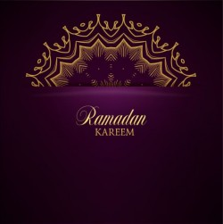 Ramadan kareem purple backgrounds vector set 36