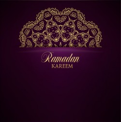 Ramadan kareem purple backgrounds vector set 35