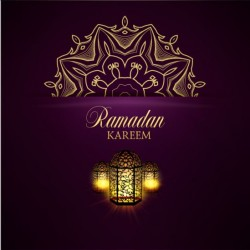 Ramadan kareem purple backgrounds vector set 02