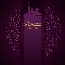 Ramadan kareem purple backgrounds vector set 09