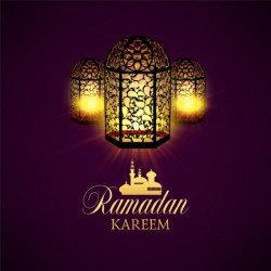 Ramadan kareem purple backgrounds vector set 12