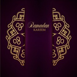 Ramadan kareem purple backgrounds vector set 04