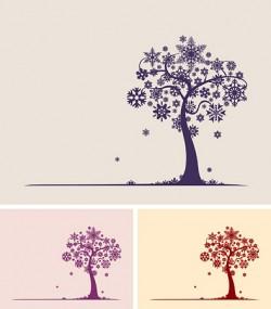 Snowflake Tree Vector