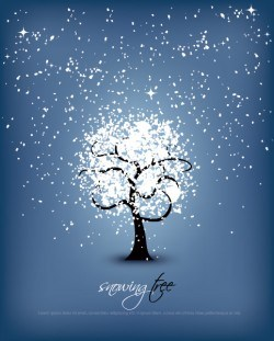 Snowing Tree Vector
