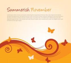 Summerish November Vector