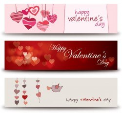 Valentines Banners Vector