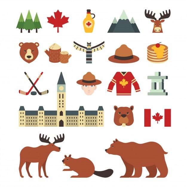 A set of canada icons