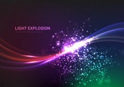 Abstract Light Explosion Vector