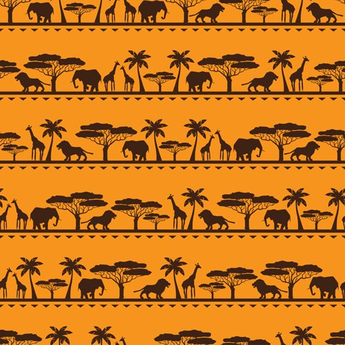 African style seamless vector pattern