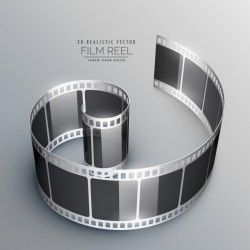 Background with 3d film strip