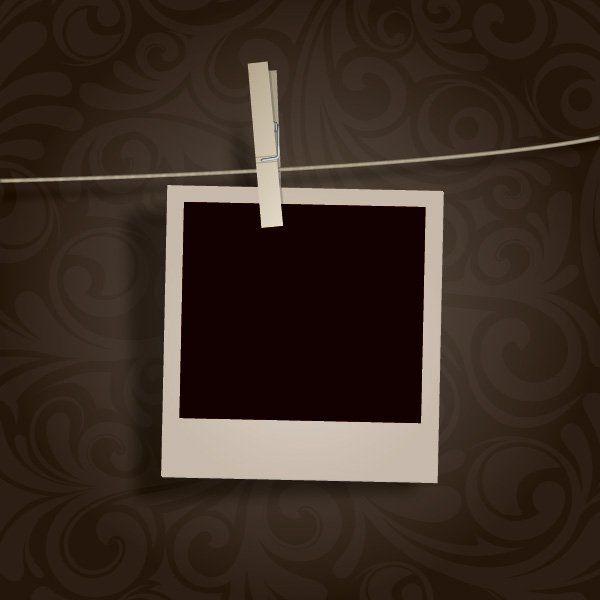 Blank Photo Hanging Vector