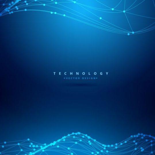 Blue teachnology backgrounds modern vector 09