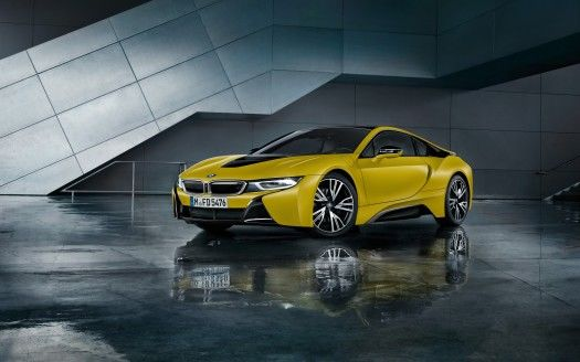 BMW i8 Frozen Yellow 2017 Wallpapers