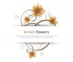 Brown Flowers Vector Graphic