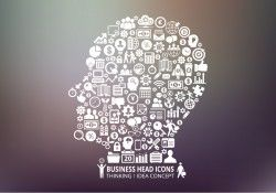 Business Human Head Vector
