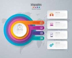 Business Infographic creative design 4482