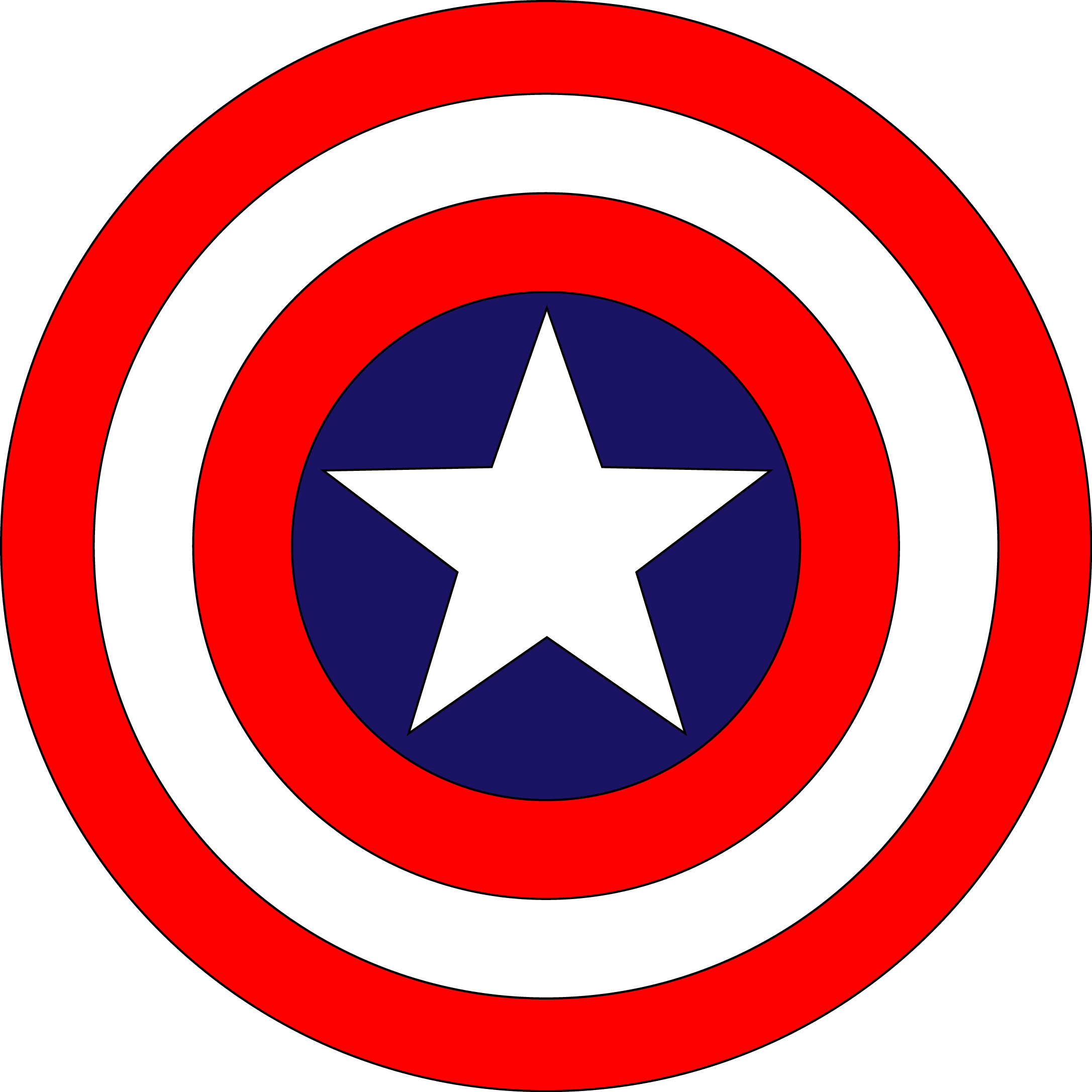 Captain America Logo [PDF – Shield] Vector EPS Free Download, Logo, Icons, Brand Emblems