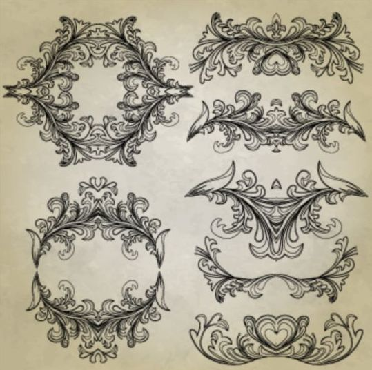 Classical ornaments with frame vectors