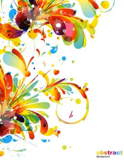 Colorful abstract background with grunge vector 06