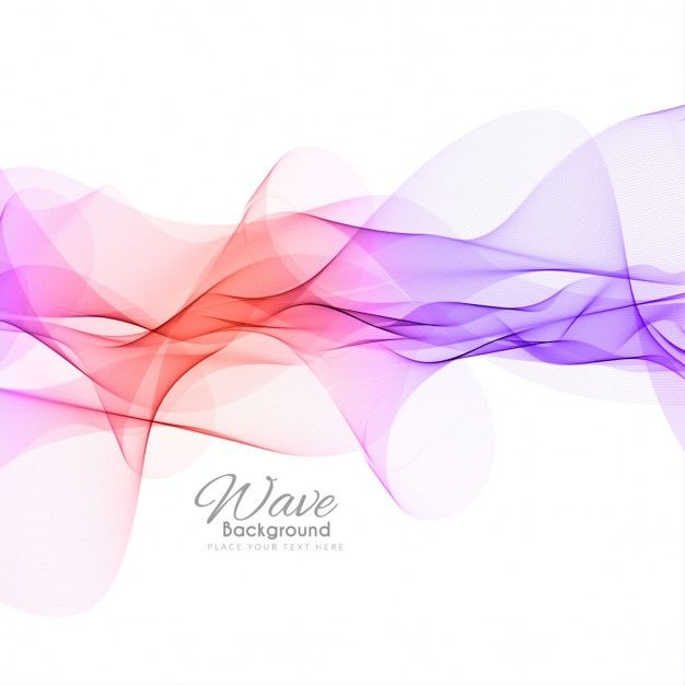 Colorful background with waves