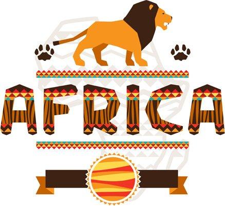 Creative african background vector