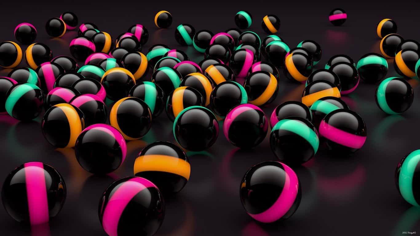 Balls, Lights, Glass laptop 1366×768 HD Background