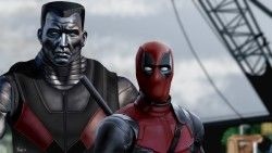 Deadpool, Colossus, Art, Superheroes laptop 1366×768 HD Background